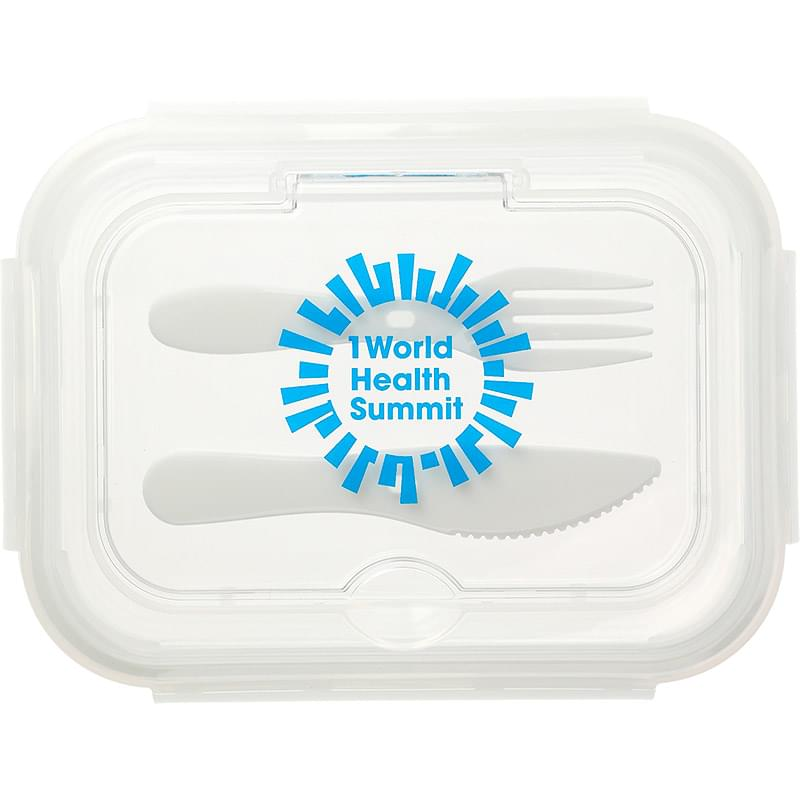 1000ML Glass Food Storage with Utensils