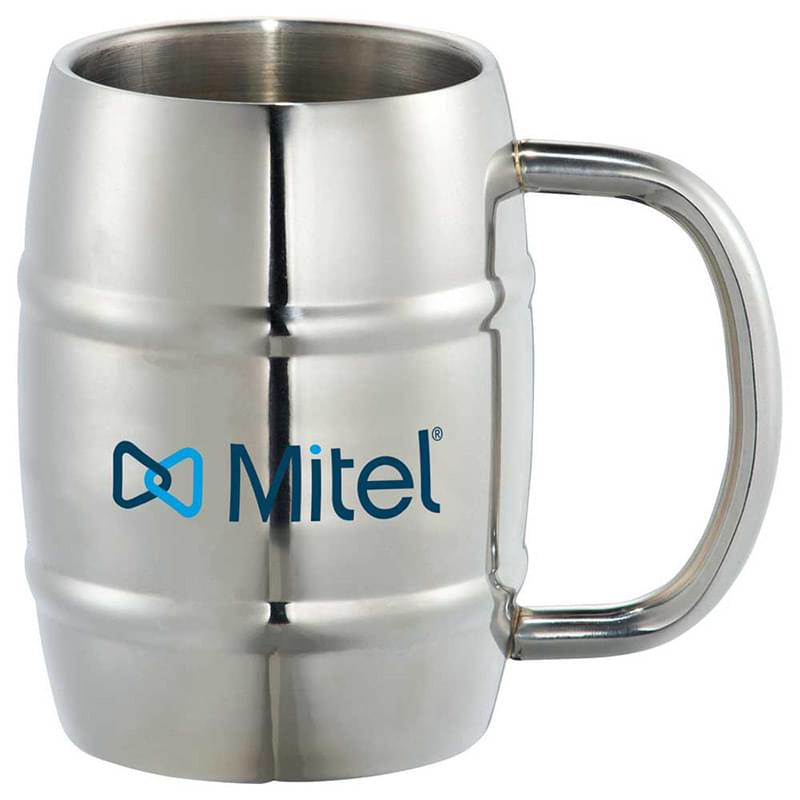 Growl Stainless Barrel Mug 14oz