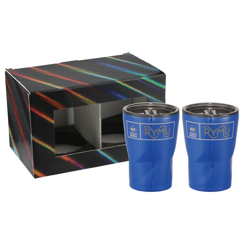 Glacier Tumbler 12oz 2 in 1 Gift Set
