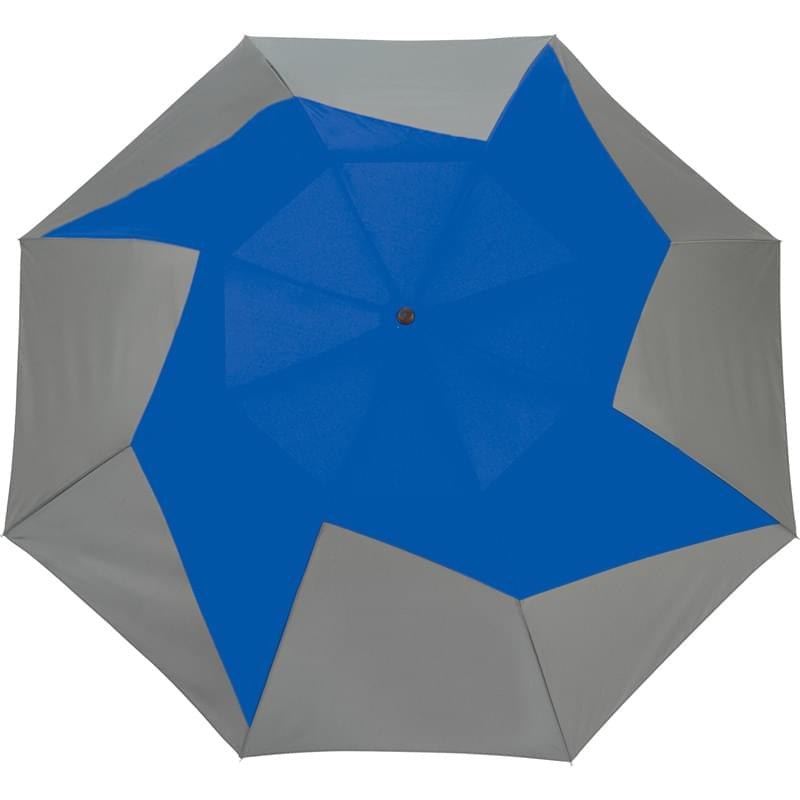 "46"" Vented, Auto Open Folding PinWheel Umbrella"