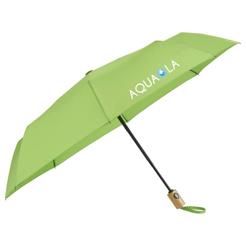 "42"" Recycled PET Auto Open/Close Folding Umbrella"
