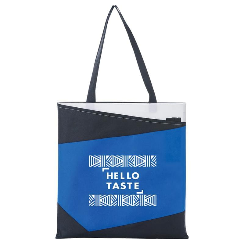 Color Angle Non-Woven Convention Tote