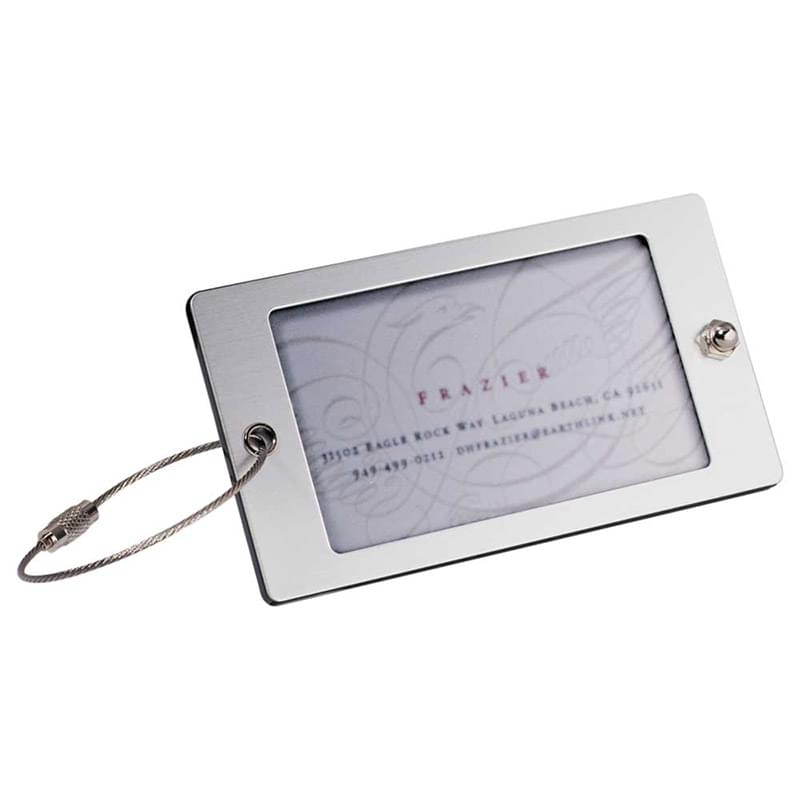 Steel Threads Acrylic Identification Tag (Gray)