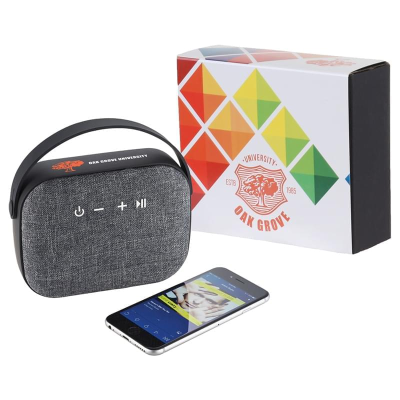 Woven Fabric Bluetooth Speaker w/Full Color Wrap