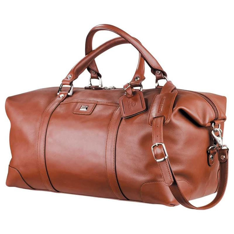 "Cutter & Buck® 19"" Leather Weekender Duffel Bag"