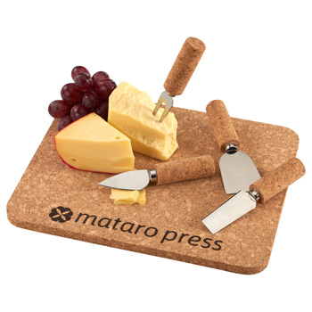 Cork 5 Piece Cheese Serving Set