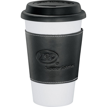 Double-Wall Ceramic Tumbler with Wrap11oz