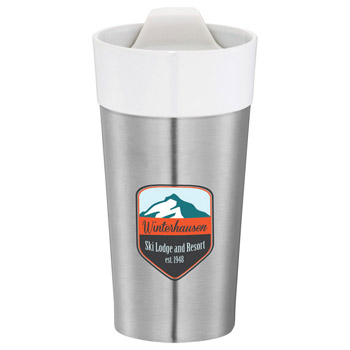 Clarity Stainless Steel Ceramic Tumbler 11oz