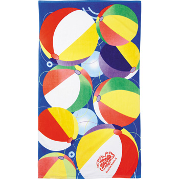 14 lb./doz. Beach Ball Beach Towel