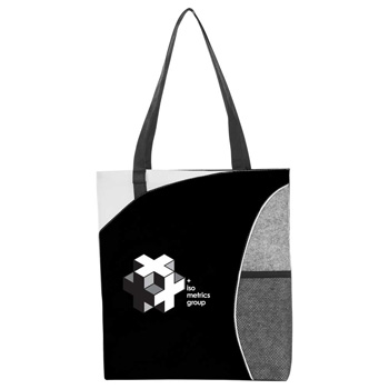 HOT DEAL - Mesh Pocket Non-Woven Convention Tote