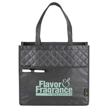 Laminated Non-Woven Quilted Carry-All Tote