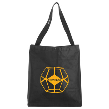 Medium Laminated Non-Woven Snap Tote
