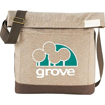 "Chambray Foldover 11"" Tablet Tote"