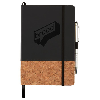 "5.5"" x 8.5"" Lucca Cork Hard Bound JournalBook®"