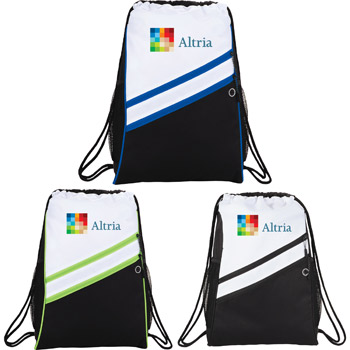Daunting Double Zipper Drawstring Sportspack