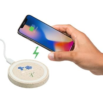Wheat Straw Quake Wireless Charging Pad