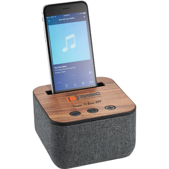 Shae Fabric and Wood Bluetooth Speaker
