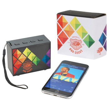 Banner Bluetooth Speaker with Full Color Wrap