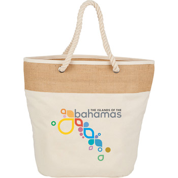 12 oz. Cotton and Jute Rope Tote