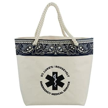 16 oz. Cotton Canvas Americana Bandana Tote