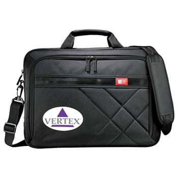"Case Logic® Cross-Hatch 17"" Computer Briefcase"