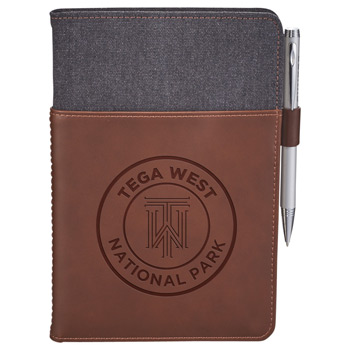 Alternative® Canvas Leather Wrap Bound Notebook