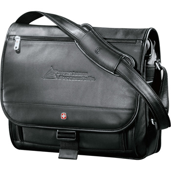 Wenger® Executive Leather Compu-Saddle Bag