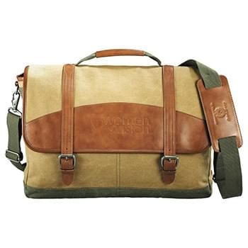 Cutter & Buck® Legacy Cotton Compu-Messenger Bag